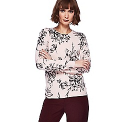 The Collection - Light pink floral printed jumper