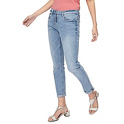 The Collection - Light blue girlfriend fit mid wash jeans