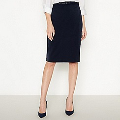 Principles Collection - Navy belted suit skirt