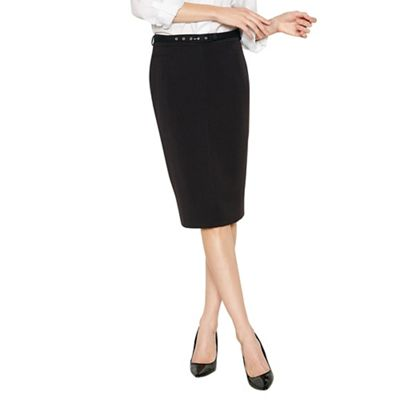 The Collection   Black Belted Suit Skirt by The Collection