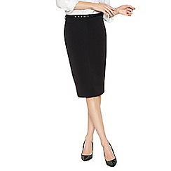 The Collection - Black belted suit skirt