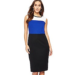 The Collection - Black colour block knee length pencil dress
