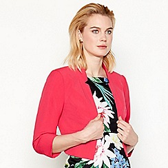 The Collection - Bright pink 3/4 sleeve bolero jacket