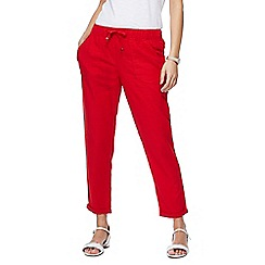 The Collection - Red linen jogging bottoms
