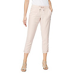 The Collection - Light pink linen jogging bottoms