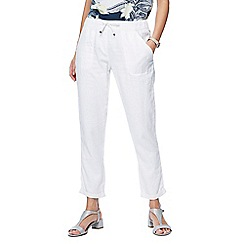 The Collection - White linen jogging bottoms