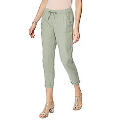 The Collection - Khaki linen jogging bottoms