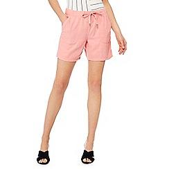 The Collection - Peach linen blend regular fit shorts