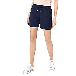 The Collection - Navy linen blend regular fit shorts