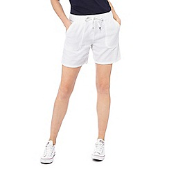 The Collection - White linen blend regular fit shorts