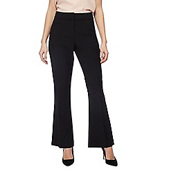The Collection - Black slim leg bootcut trousers