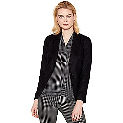 The Collection - Black linen blend blazer