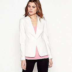 The Collection - Ivory linen tailored formal blazer