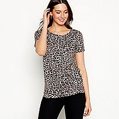 The Collection - Multi-coloured leopard print jersey t-shirt
