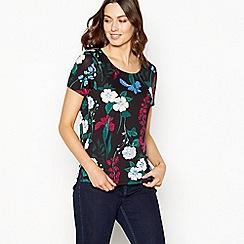 The Collection - Multicoloured garden print t-shirt