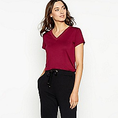 The Collection - Dark red chiffon T-shirt