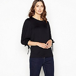 The Collection - Black volume sleeve top