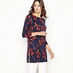 The Collection - Navy floral 3/4 sleeve tunic