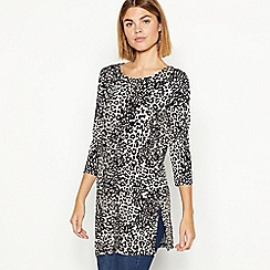 The Collection - Natural leopard print tunic top