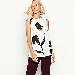 The Collection - Natural rose print shell top