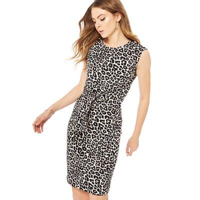 The Collection Multi-coloured leopard print knee length dress   Debenhams b35ed0cc34