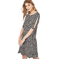The Collection - Multi-coloured leopard print knee length dress