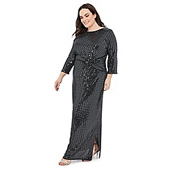 The Collection - Silver sequin stripe maxi dress