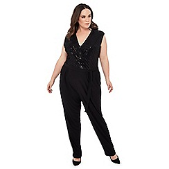 The Collection - Black sequin plus size jumpsuit