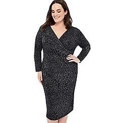 d382690e13f The Collection - Silver glitter leopard print plus size midi dress