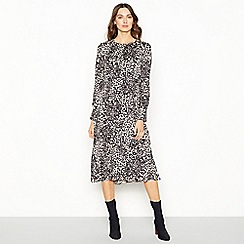 The Collection - Natural leopard print midi dress