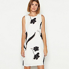 The Collection - Natural floral print mini shift dress