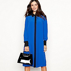 The Collection - Blue contrast chiffon midi shirt dress