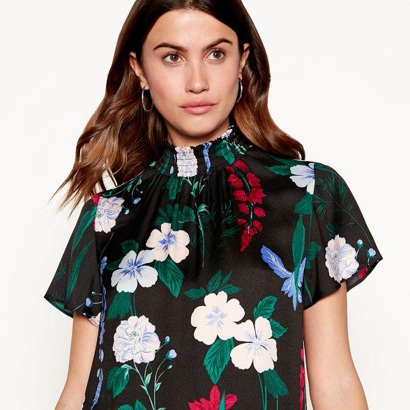 Collection The Black floral print blouse 0vdvR