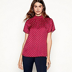 The Collection - Wine floral print blouse