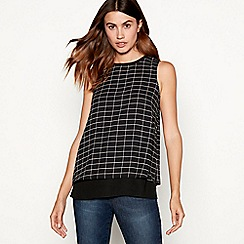 The Collection - Black check print shell top
