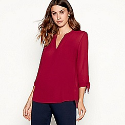 The Collection - Wine textured shirt