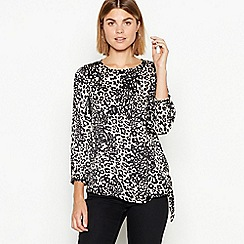 The Collection - Multicoloured leopard print satin blouse