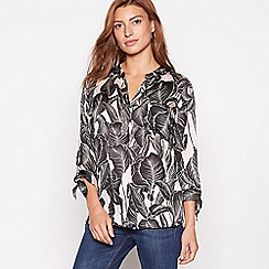 The Collection - Light pink leaf print satin blouse