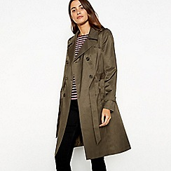 The Collection - Olive double breasted cotton blend trench coat