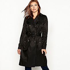 The Collection - Black cotton blend trench coat