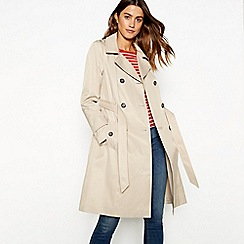 The Collection - Natural double breasted cotton blend trench coat