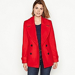 The Collection - Red double breasted 'City' coat