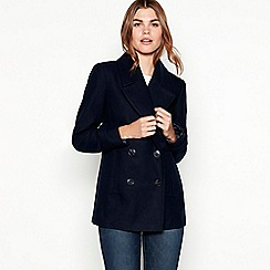 The Collection - Navy double breasted peacoat