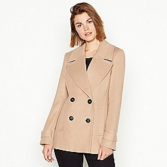 The Collection - Camel double breasted 'City' coat