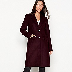 The Collection - Dark purple single breasted 'City' coat