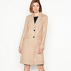 The Collection - Camel single breasted 'City' coat