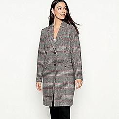 The Collection - Multicoloured checked smart city coat