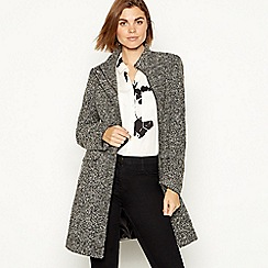 The Collection - Black 'Boucle' collarless coat