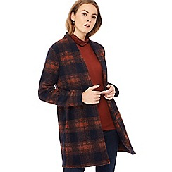 The Collection - Multicoloured checked textured lightweight coat