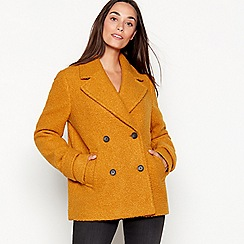The Collection - Gold double breasted 'City' coat